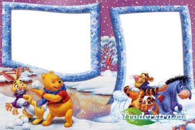 Рамка Давай играть в снежки!