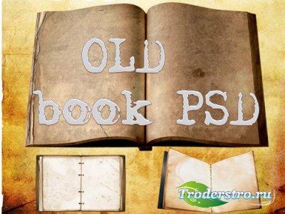 PSD Исходник - Старые Книги