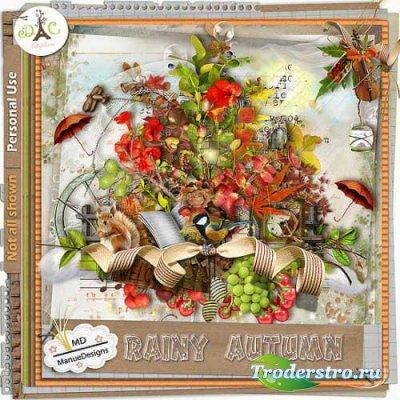 Осенний скрап-набор - Дождливая осень. Scrap - Rainy autumn