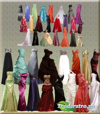 Вечерние платья - Подборка шаблонов Фотошоп
