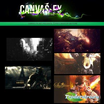 PSD Исходники - Банеры от Canvas FX
