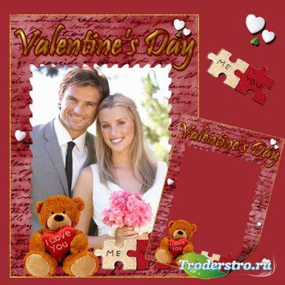 Рамка для фото День влюбленных