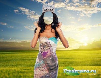 Шаблон для монтажа в Photoshop - Мисс Королева