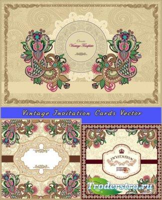 Богато украшенный винтажный фон (Вектор)
