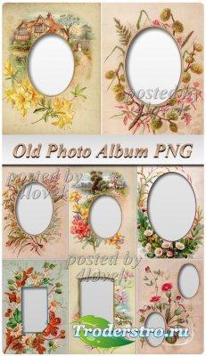 PNG Рамки для Фото - Старый фотоальбом
