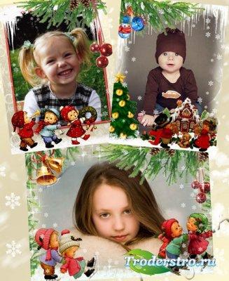 Детские PSD Рамки для Фото - Зимние развлечения