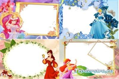 Детские PSD Рамки для Adobe Photoshop - Сказочные красавицы
