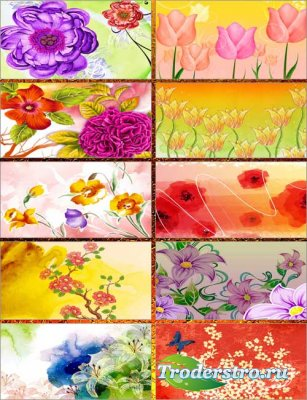 Весёлые цветы - Фоны 2