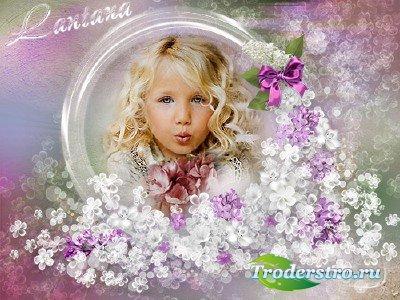 Рамочка - Весенние цветы рассыпались как звезды
