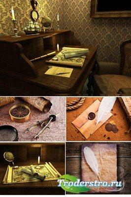 Старинные письма и карты - фоны (HQ)