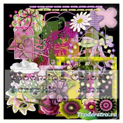 Скрап набор Цветущие цветы - Blooming Colors