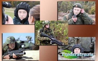 Подборка шаблонов для фото Защитники отечества