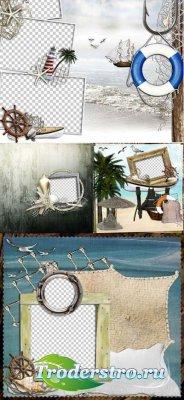 Скрап-странички (Рамки) - Море