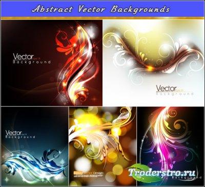 Темные фоны с кружевным элементом (Вектор)