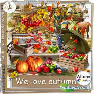 Эксклюзивный осенний скрап набор - Мы любим осень. Scrap - We love autumn
