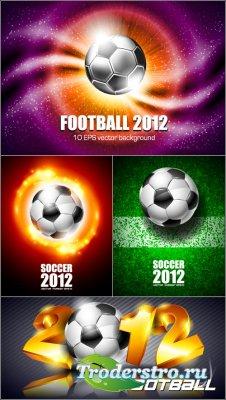 Футбольные фоны с мячами Вектор (Vector Football Backgrounds)