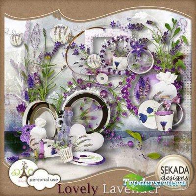 Нежный цветочный скрап-набор - Прекрасная лаванда. Scrap - Lovely lavender