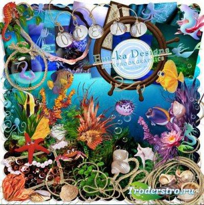 Скрап набор морские жемчужины scrap sea
