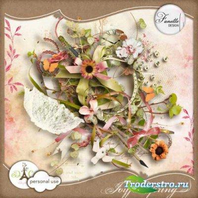 Цветочный скрап-набор - Радостная весна. Scrap - Joyful Spring
