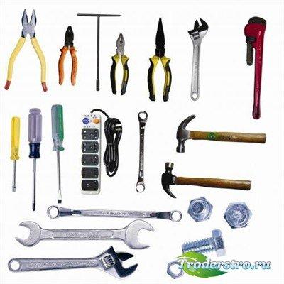 Молотки плоскогубцы и ключи - набор PSD элементов для дизайна