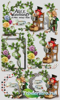 19 декоративных PNG вырезов для рамок