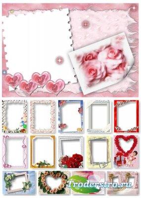 Набор Свадебных Фоторамок для Photoshop - Wedding Frames