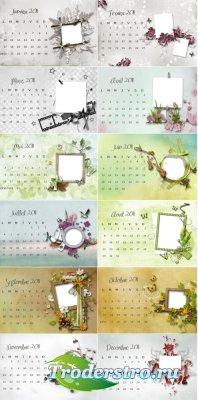 Календари с фоторамкой на 2011 год - 12 месяцев