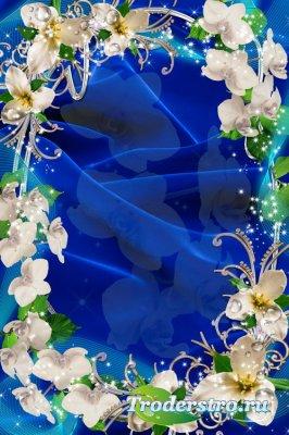 Рамка для фото - Дикая орхидея