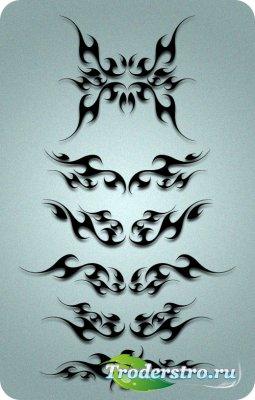 Черные языки пламени (Вектор)