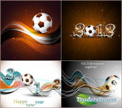 Абстрактные футбольные фоны 2012 (Вектор)