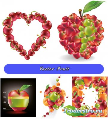 Фруктовый яблочный фреш (Вектор)