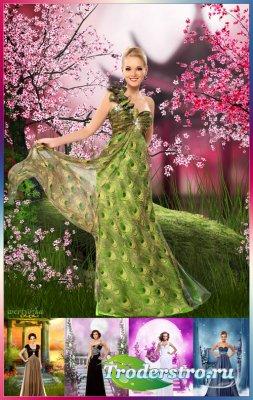Многослойный женский psd шаблон - Коллекция элегантных и роскошных вечерних ...