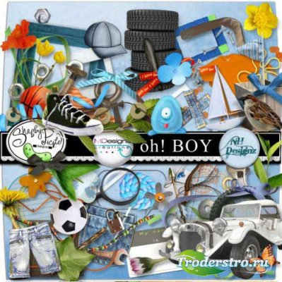 Скрап-набор для мальчиков - Ох!Мальчишка. Scrap - Oh! Boy