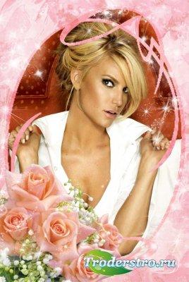 Романтическая Фоторамка - Розовое Сияние