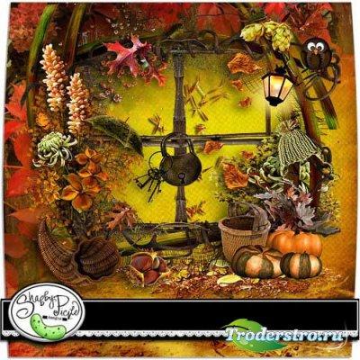 Роскошный осенний скрап набор - Осень в пути. Scrap - Autumn On The Way