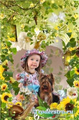 Детская рамка –  Лесная сказка есть в лесу, без колдовства и без обмана…
