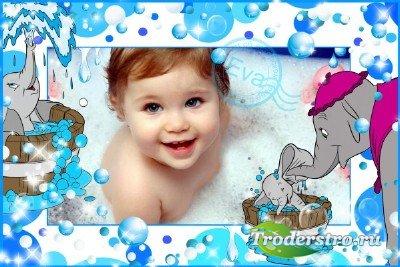 Детская фоторамка - Люблю купаться