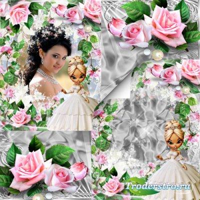 Фоторамка - Она была прекрасна словно ангел