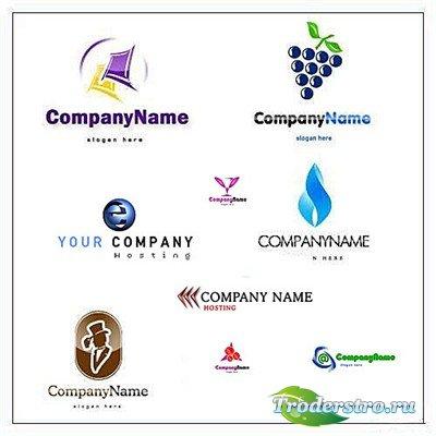 Коллекция многослойных PSD логотипов для фирм и компаний