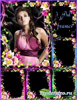 Цветочная рамка для фото - Чудесные цветы сон-трава
