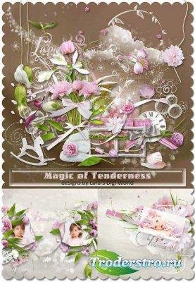 Красивый скрап-набор - Магия нежности. Scrap - Magic Of Tenderness