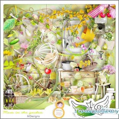 Летний скрап-набор - Мама в саду. Scrap - Mom In The Garden