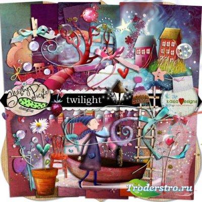 Скрап-набор - Сумерки. Scrap - Twilight
