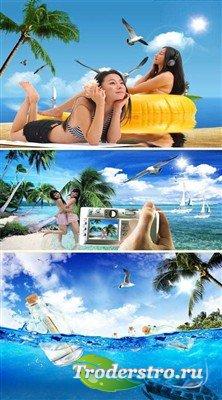 Беззаботное лето - многослойные PSD