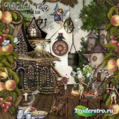 Сказочный детский скрап-набор - Деревушка в девственном лесу. Scrap - Wildw ...