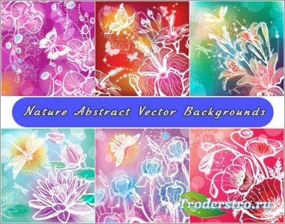 Природная цветная цветочная абстракция (Вектор)