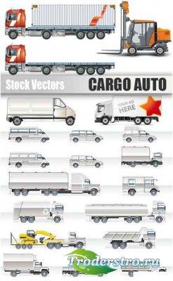 Векторный клипарт - автомобили грузовые и легковые / auto car vector Collec ...