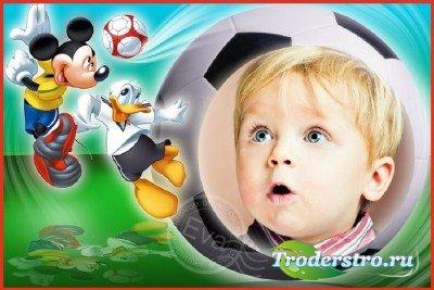 Детская рамка для photoshop - Лучшие футболисты