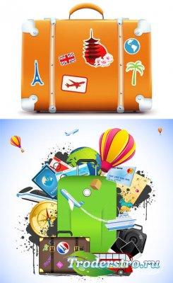 Векторный клипарт - путешествия, поездка, отдых / travel vector Collection