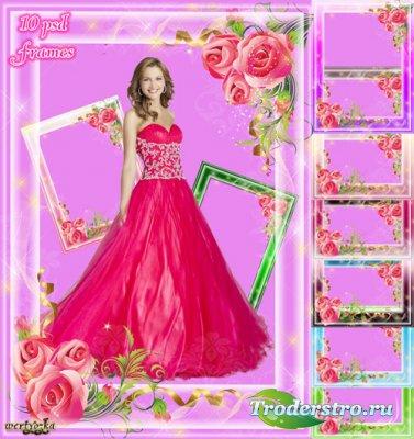 Набор рамок для фото - Прекрасны и изящны нам розы дарят свет